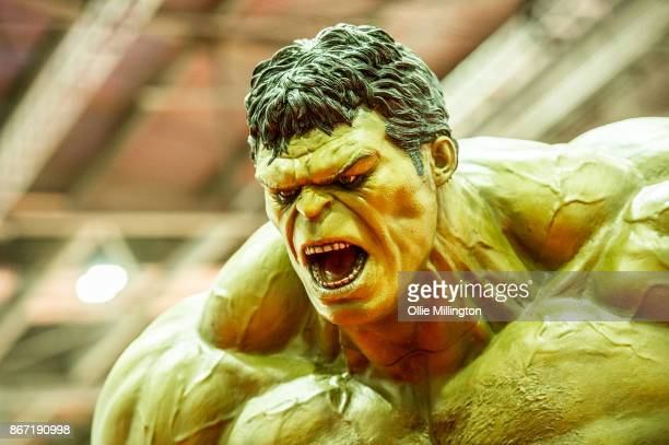 The Hulk seen during MCM London Comic Con 2017 held at the ExCel on October 27 2017 in London England
