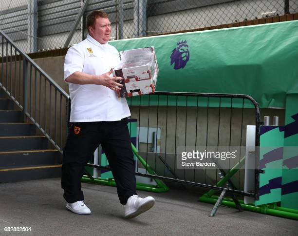 The Hull City chef arrives at the stadium prior to the Premier League match between Crystal Palace and Hull City at Selhurst Park on May 14 2017 in...