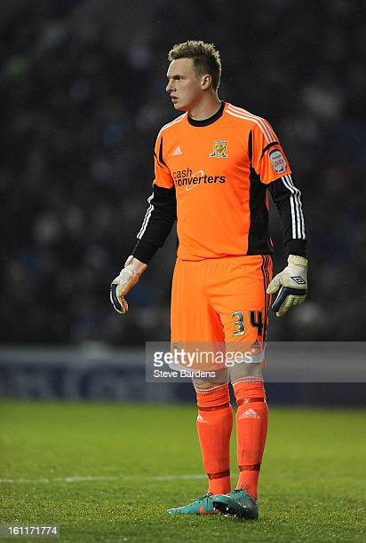 The Hull City goalkeeper David Stockdale during the npower Championship match between Brighton Hove Albion and Hull City at Amex Stadium on February...