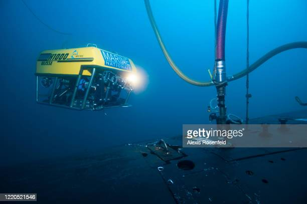"""The Human Diving Unit and intervention under the sea managed to ventilate a submarine using of a remote-controlled robot called """"Ulisse"""" on May 10,..."""