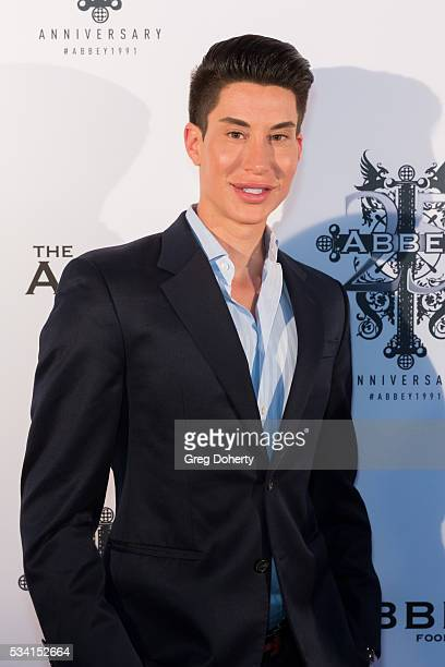 The Human Ken Doll Justin Jedlica arrives at The Abbey Food And Bar Hosts 25th Anniversary Celebration Party at The Abbey on May 24 2016 in West...
