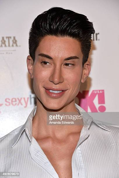 The human 'Ken' doll Justin Jedlica arrives OK Magazine's 'So Sexy' LA Event at Lure on May 21 2014 in Hollywood California