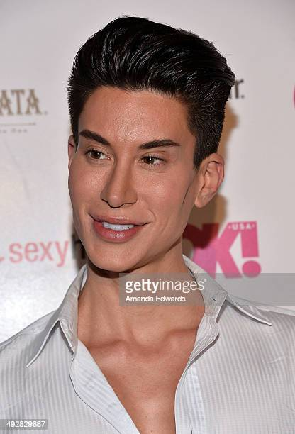 The human Ken doll Justin Jedlica arrives OK Magazine's So Sexy LA Event at Lure on May 21 2014 in Hollywood California