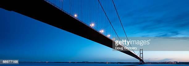 The Humber Bridge at Dusk