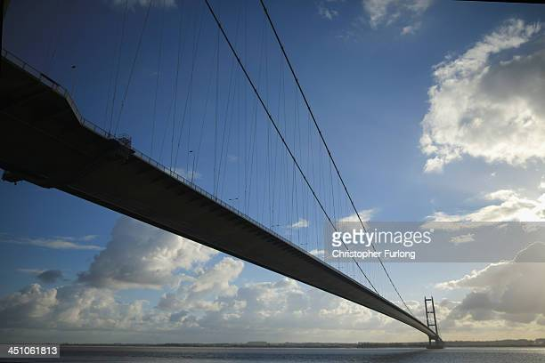 The Humber Bridge is seen after the City of Hull was announced as the 2017 UK City of Culture on November 21 2013 in Hull England Hull in the East...