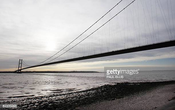 The Humber Bridge spans the River Humber near Kingston upon Hull in north east England on January 17 2009 The bridge which was opened in 1981 was for...