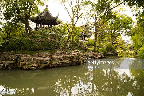 the humble administrators garden in suzhou. - suzhou stock pictures, royalty-free photos & images