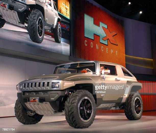 The HUMMER HX Concept is introduced at the 2008 North American International Auto Show January 13 2008 in Detroit Michigan The HUMMER HX Concept is...