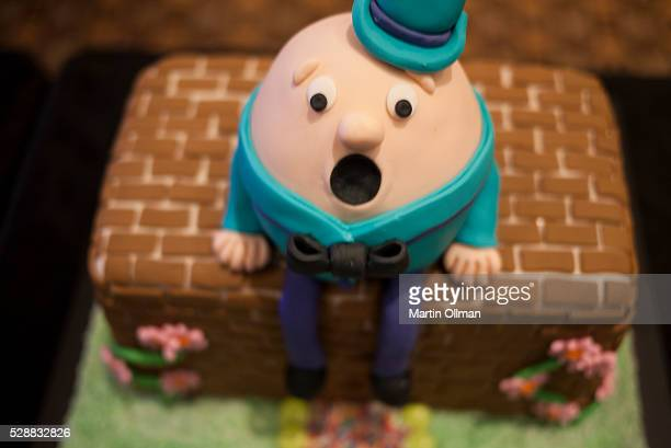The Humpty Dumpty cake by Laura Elphick on display at the PANDSI Cake Off at Hyatt Hotel on May 7 2016 in Canberra Australia The event was held to...