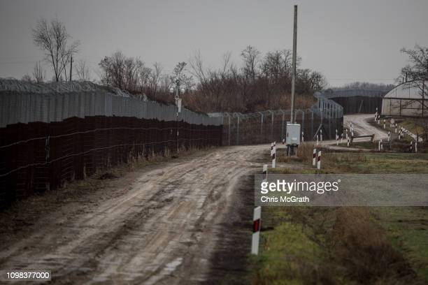 The Hungarian border fence with Serbia is seen on January 18 2019 outside Szeged Hungary In 2015 thousands of migrants massed on the Hungarian border...