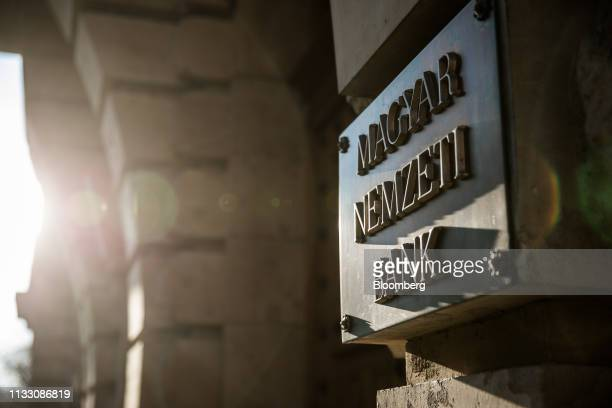 The Hungarian central bank, also known as Magyar Nemzeti Bank, stands in Budapest, Hungary, on Tuesday, March 26, 2019. Hungary's central bank took...