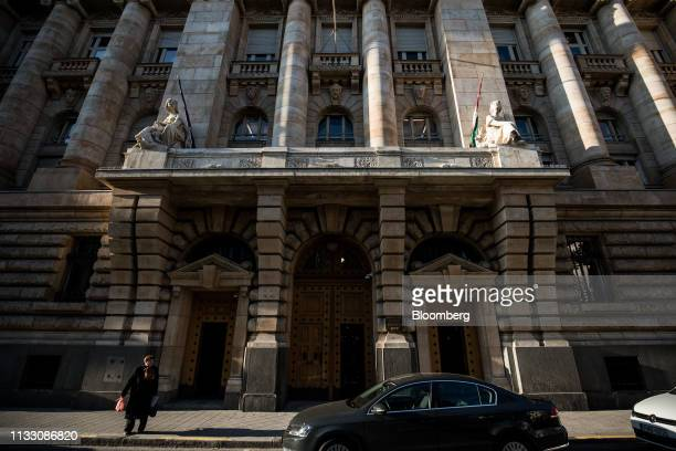 The Hungarian central bank also known as Magyar Nemzeti Bank stands in Budapest Hungary on Tuesday March 26 2019 Hungary's central bank took its...