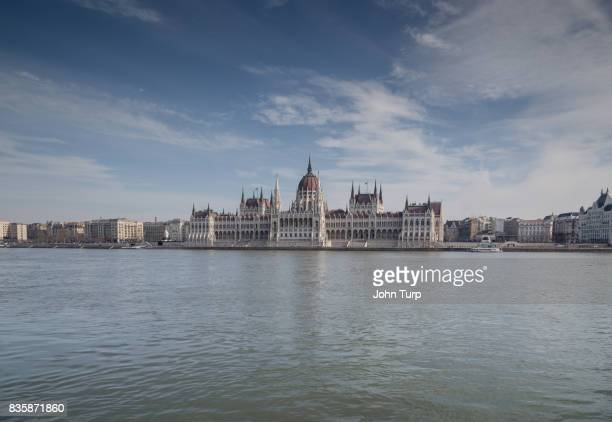 The Hungarian Parliament Building from across the River Danube