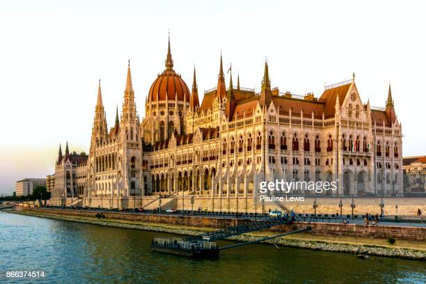 The Hungarian Parliament Buildings.