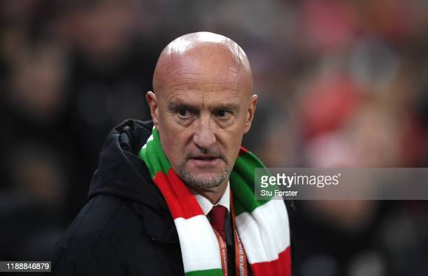 The Hungary team coach Marco Rossi pictured before the UEFA Euro 2020 qualifier between Wales and Hungary at Cardiff City Stadium on November 19,...