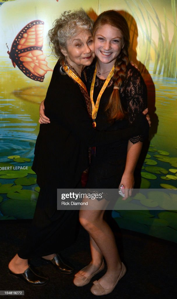 'The Hunger Games: Catching Fire' cast member Lynn Cohen and her Grandaughter attend Cirque du Soleil TOTEM Premiere at Atlantic Station on October 26, 2012 in Atlanta, Georgia.