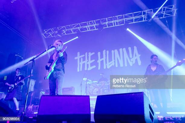 The Hunna perform on stage at O2 Academy Glasgow on January 9 2018 in Glasgow Scotland