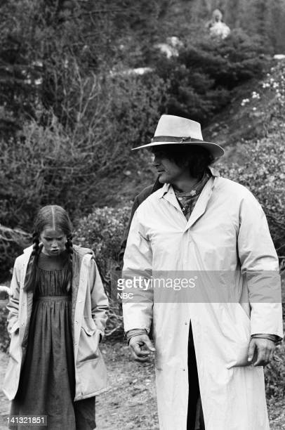 PRAIRIE The Hunters Episode 10 Pictured Melissa Sue Anderson as Mary Ingalls Michael Landon as Charles Ingalls Photo by NBCU Photo Bank