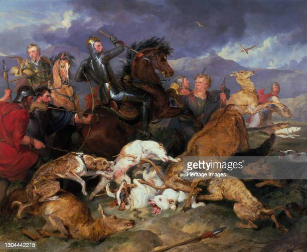 The Hunting of Chevy Chase, 1826. Artist Edwin Henry Landseer.