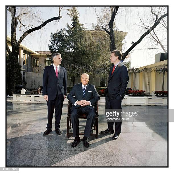 The Huntsman Family Jon Huntsman Jr Jon Huntsman and Peter Huntsman are photographed for Fortune Magazine on March 10 2010 in Beijing China Published...