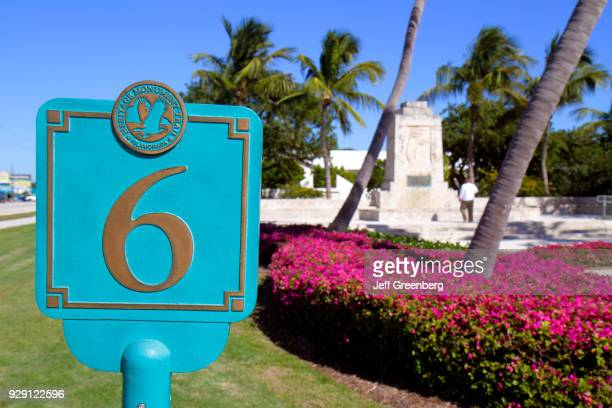 The Hurricane Monument numbered marker at The Florida Keys Memorial
