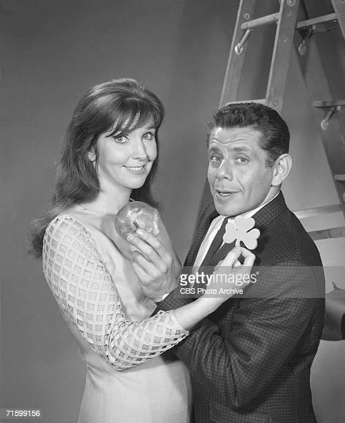 The husband and wife comedy team of Anne Meara and Jerry Stiller appears on the CBS variety program 'The Ed Sullivan Show,' New York, November 7,...