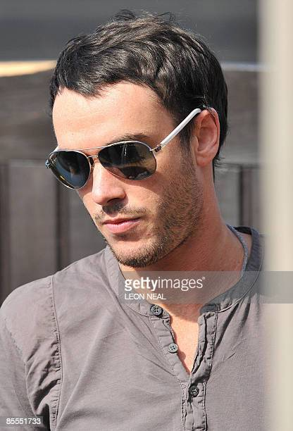 The husband of British reality television star Jade Goody Jack Tweed leaves hee home in Upshire following her death at the age of 27 on March 22 2009...