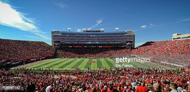 The Husker faithful pack the stadium before the Nebraska Cornhuskers play the Missouri Tigers at Memorial Stadium on October 30 2010 in Lincoln...