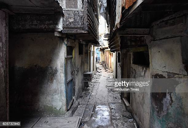 The hustle bustle along the narrow lanes is no longer visible at Dhobi Ghat as people have vacated the place for redevelopment on November 24 2016 in...