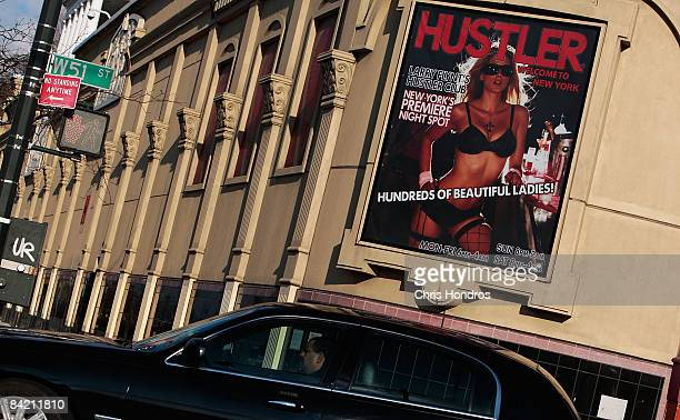 The Hustler nightclub on Manhattan West Side is seen January 8 2009 in New York According to reports Porn industry leaders Larry Flynt and Joe...