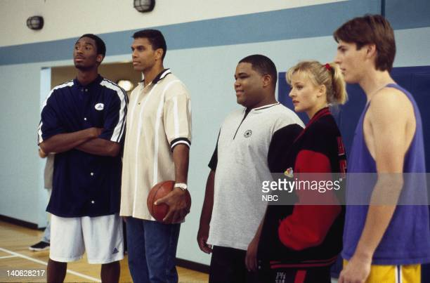 "The Hustlers"" Episode 11 -- Aired 10/18/97 --Pictured: Kobe Bryant as himself, Reggie Theusas Coach Bill Fuller, Theodore 'Teddy' Brodis, Daniella..."