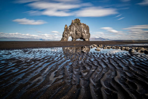 The Hvitserkur roock, It is a 15 m high basalt stack along the eastern shore of the Vatnsnes peninsula, in northwest Iceland.