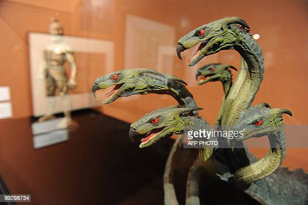 The Hydra a sevenheaded monster faced by Jason in Jason and the Argonauts is on display at the opening of The Fantastical Worlds of Ray Harryhausen...