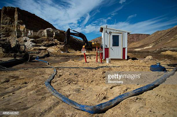 The hydraulic mining operator booth stands at the Superior Silica Sands LLC facility in Barron Wisconsin US on Thursday Sept 10 2015 A littleknown...