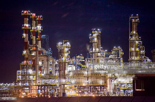 The hydrocracking facility at the Grupa Lotos SA oil refinery is seen at night in Gdansk Poland on Monday Dec 6 2010 Russian companies such as OAO...