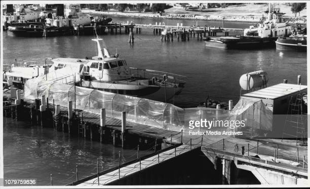 The hydrofoil Curl Curl sealed and approachable only through a plastic tunnel June 30 1987