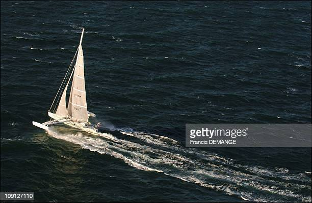 The Hydrofoil 'Hydroptere' 40 Knots Above The Seas On November 10 2004 In La TriniteSurMer France