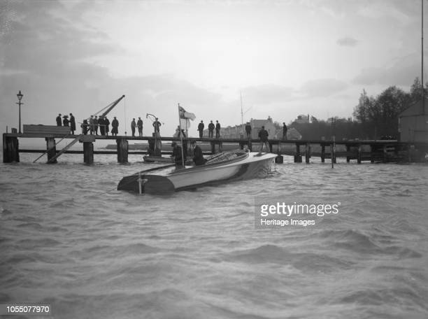 The hydroplane 'Brunhilde' 'Brunhilde' was built by S E Saunders on the Isle of Wight for the Duke of Westminster as a successor to the record...
