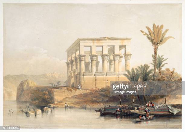 The Hypaethral Temple at Philae called the Bed of Pharaoh Egypt 1849 From Egypt and Nubia Vol 2 by David Roberts Artist David Roberts