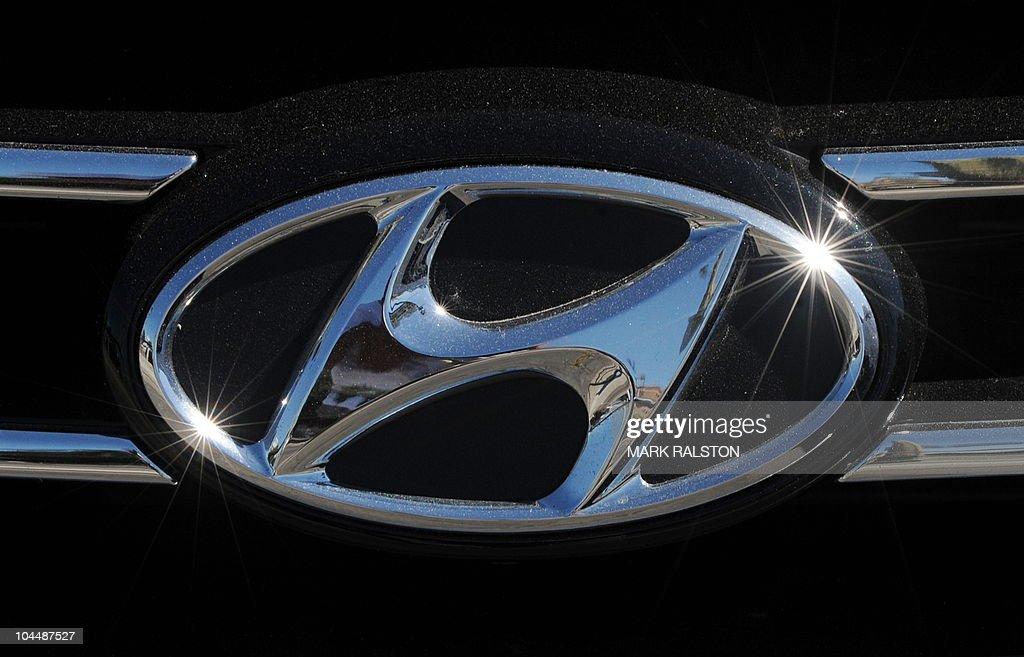 Hyundai Dealership Los Angeles >> The Hyundai Emblem At A Hyundai Dealership In Los Angeles On