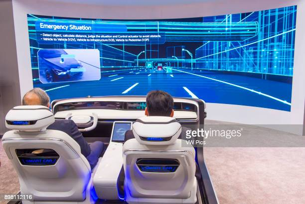 The Hyundai Mobis Concept car simulator at the CES Show in Las Vegas CES is the world's leading consumerelectronics show