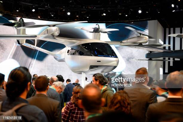 The Hyundai S-A1 electric Urban Air Mobility concept is displayed January 7, 2020 at the 2020 Consumer Electronics Show in Las Vegas, Nevada. - The...