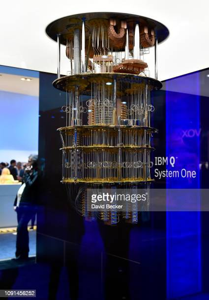 The IBM Q System One is displayed at CES 2019 at the Las Vegas Convention Center on January 8 2019 in Las Vegas Nevada CES the world's largest annual...