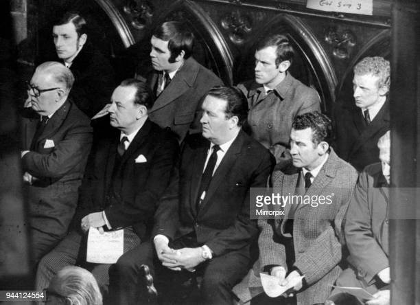 The Ibrox Disaster happened on Saturday 2nd January 1971 Picture Celtic players at memorial service Glasgow Cathedral Celtic Manager Jock Stein...