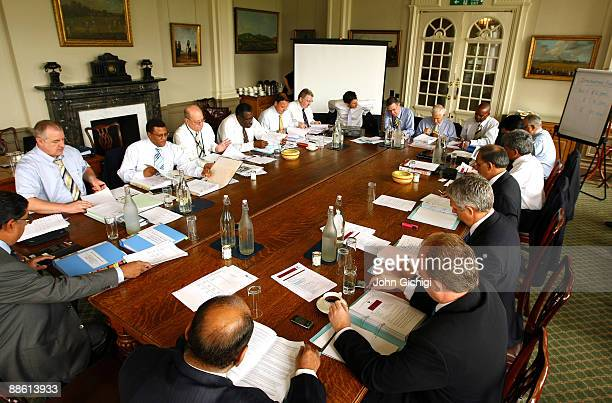 The ICC Chief Executive's Committee meeting gets under way at Lords on June 22 2009 in London England