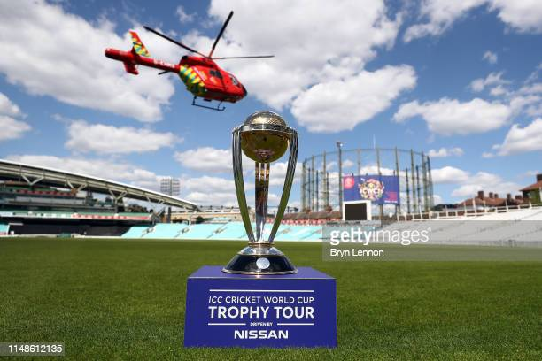 the icc cricket world cup is seen by a london air ambulance during the icc cricket