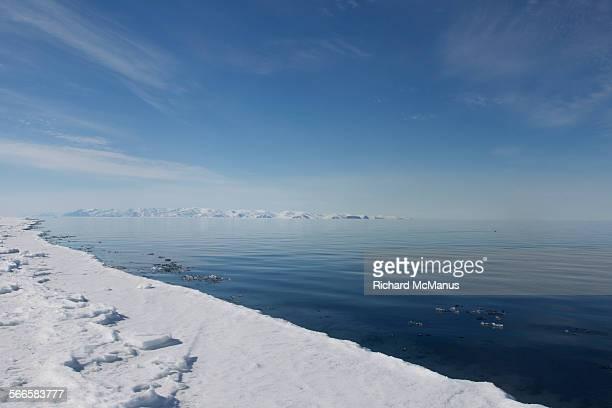 The ice floe edge.