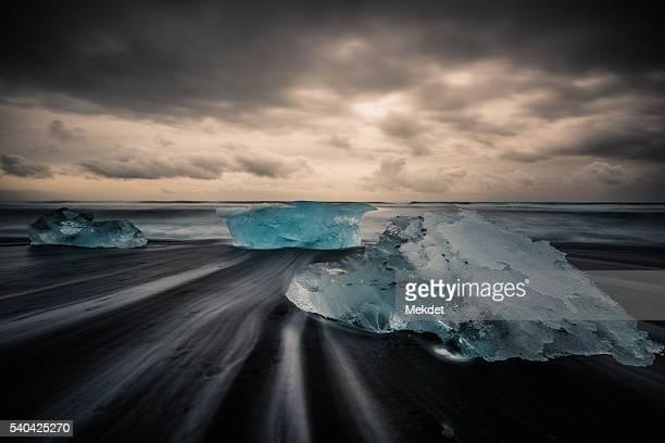 The Ice on the Beach, Jokulsarlon Black Sand Beach, Iceland