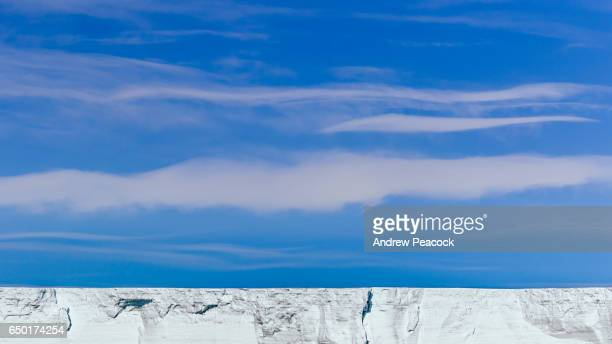 The ice shelf of Campbell Glacier, Ross Sea