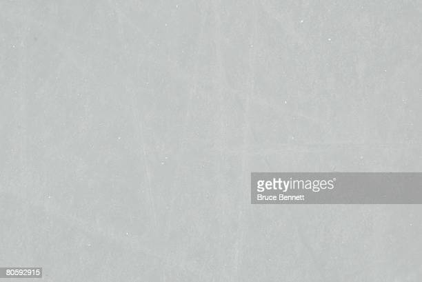 The ice surface during game 1 of the 2008 NHL conference quarterfinal series between the New York Rangers and the New Jersey Devils on April 9, 2008...